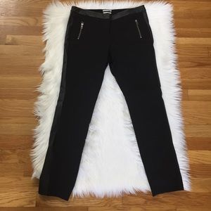 Halogen Faux Leather Piping Taylor Fit Pants
